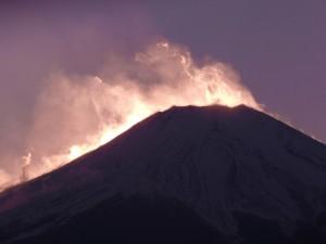 2014.1.1夕暮れの富士山